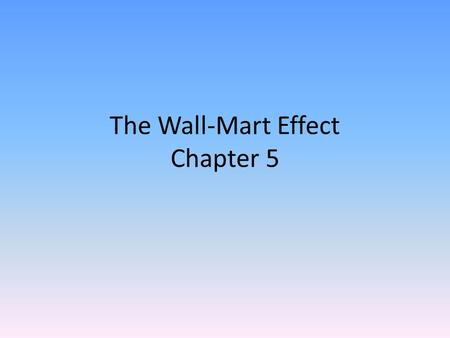 "The Wall-Mart Effect Chapter 5. Which town in Georgia is described as ""a city of character""?"