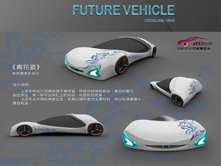  1. Future vehicle definition  2. Trent of development  a. new energy of vehicle  b. high technology  3. impact.