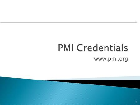 Www.pmi.org 1.  The Project Management Institute, PMI, offers a comprehensive certification program for practitioners with different levels of experience.