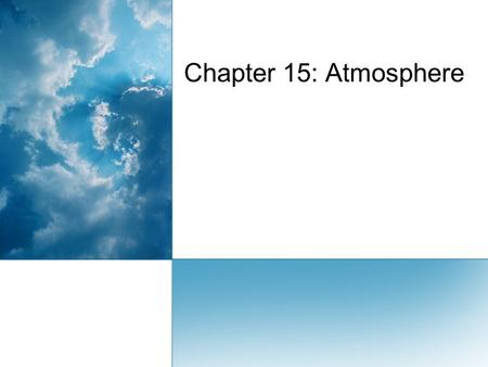 Chapter 15: Atmosphere. Earth's Atmosphere 1. What is atmosphere?1.  The atmosphere is the Earth's air which is made up of a thin layer of gases, solids,