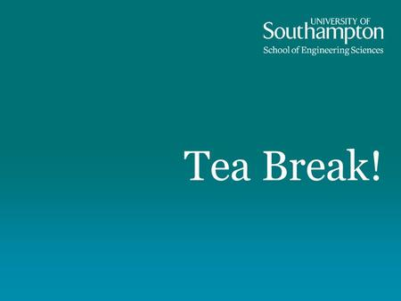 Tea Break!. Coming up: Fixing problems with expected improvement et al. Noisy data 'Noisy' deterministic data Multi-fidelity expected improvement Multi-objective.