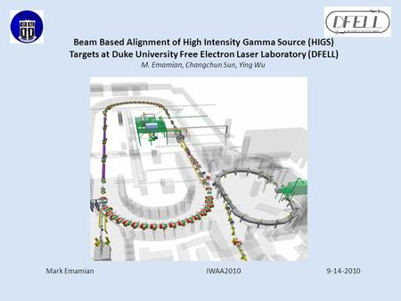 Beam Based Alignment of High Intensity Gamma Source (HIGS) Targets at Duke University Free Electron Laser Laboratory (DFELL) M. Emamian, Changchun Sun,