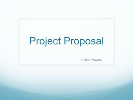 Project Proposal Claire Powers. Project: I will be creating and editing a series of books for Tarheel Reader.