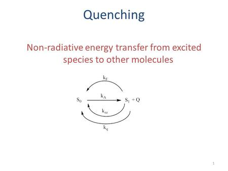 Non-radiative energy transfer from excited species to other molecules