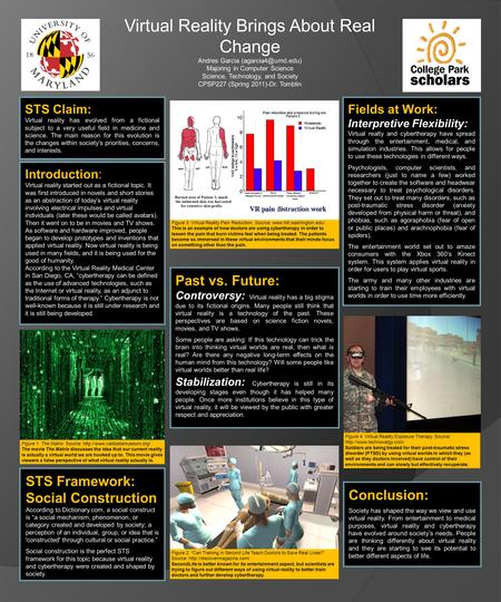 Virtual Reality Brings About Real Change Andres Garcia Majoring in Computer Science Science, Technology, and Society CPSP227 (Spring.