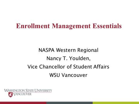 Enrollment Management Essentials