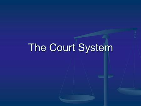 The Court System. Aim of lecture: Understand Chapter III of the Commonwealth Constitution and: (a) The separation of powers doctrine (a) The separation.