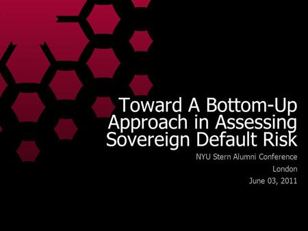 Toward A Bottom-Up Approach in Assessing Sovereign Default Risk