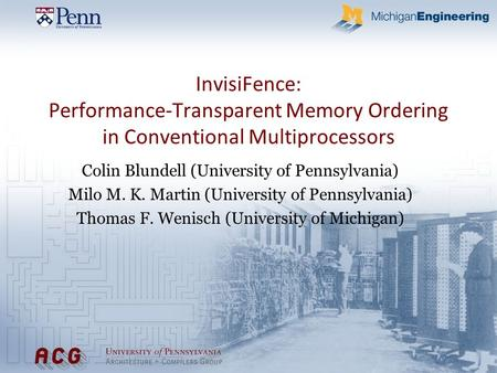 Colin Blundell (University of Pennsylvania)