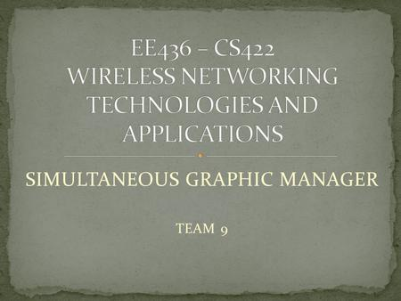 SIMULTANEOUS GRAPHIC MANAGER TEAM 9. Introduction Purpose of the system Work done Demonstration.