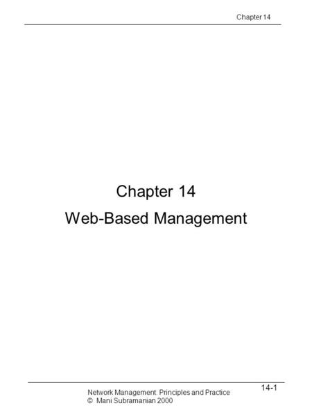 Chapter 14 Web-Based Management 14-1 Chapter 14