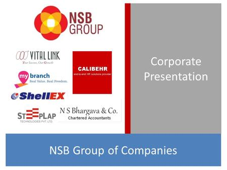 Corporate Presentation NSB Group of Companies. NSB Group has been in existence since the last 30 years. What started out as an Accounting practice with.