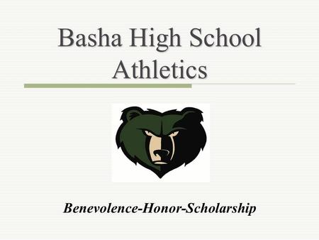 Basha High School Athletics Benevolence-Honor-Scholarship.
