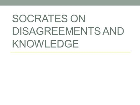 meno epistemology and socrates Opinion and knowledge in meno plato, speaking through socrates to meno, theorizes about the origin of knowledge the discussion has begun with some.