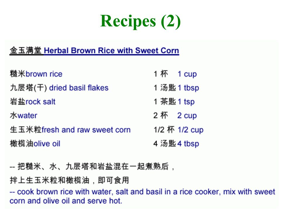 Recipes (3)