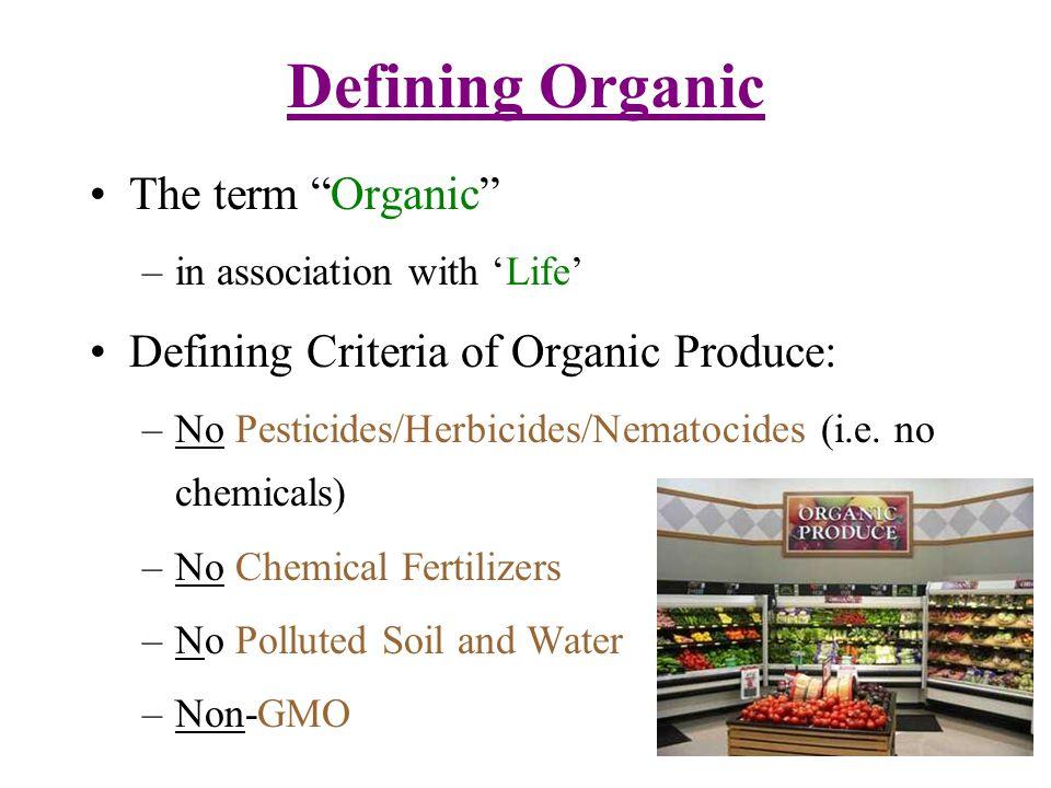 Identifying Organic Produce D.I.Y.