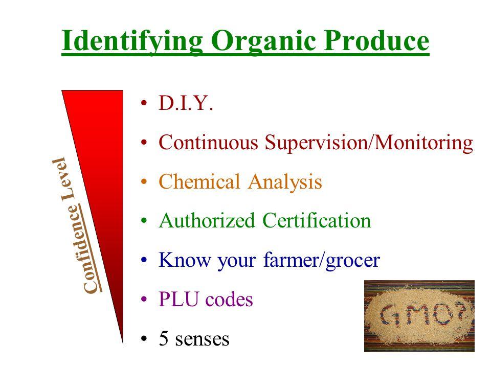 Identifying Organic Products WILDNATURALORGANICConventional Chance of Chemical Contamination