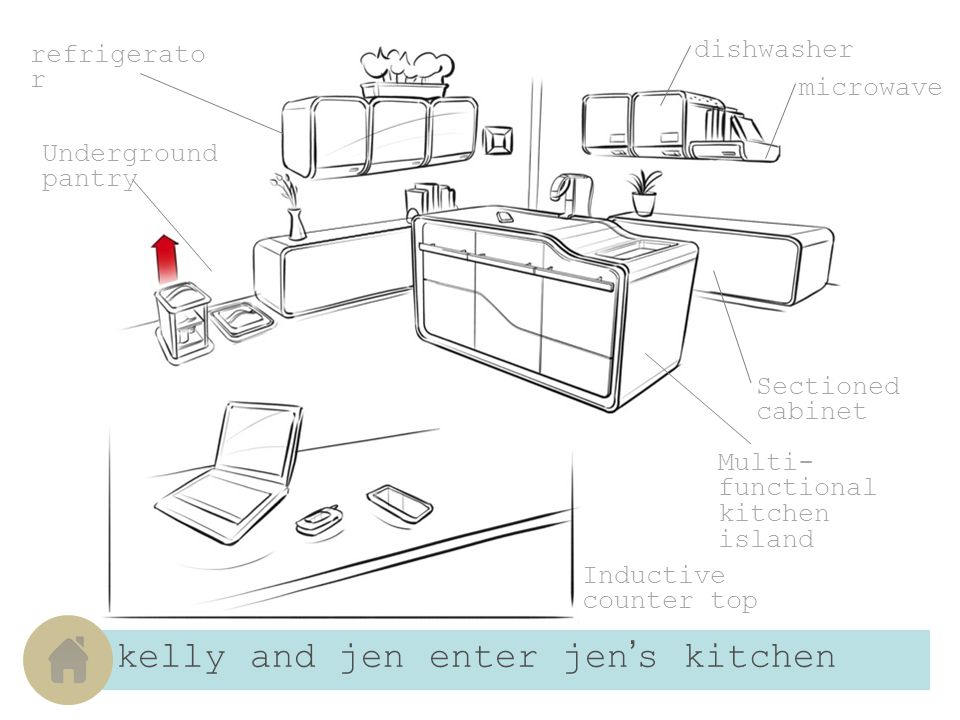 jen removes her ingredients from her modular refrigerator Add as many units as needed Set temperature The modular refrigerator is easily accessible with its lowering automated shelf.
