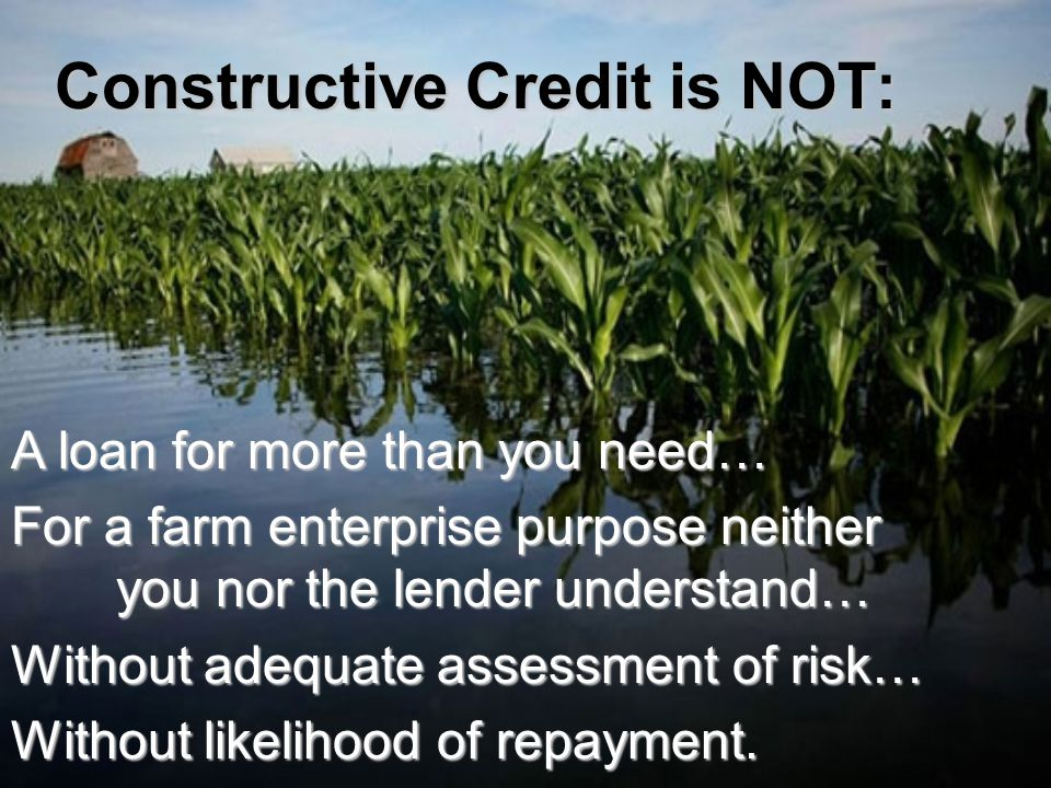 Outsiders perception of a lending operation Goal: Show me how to get what I want