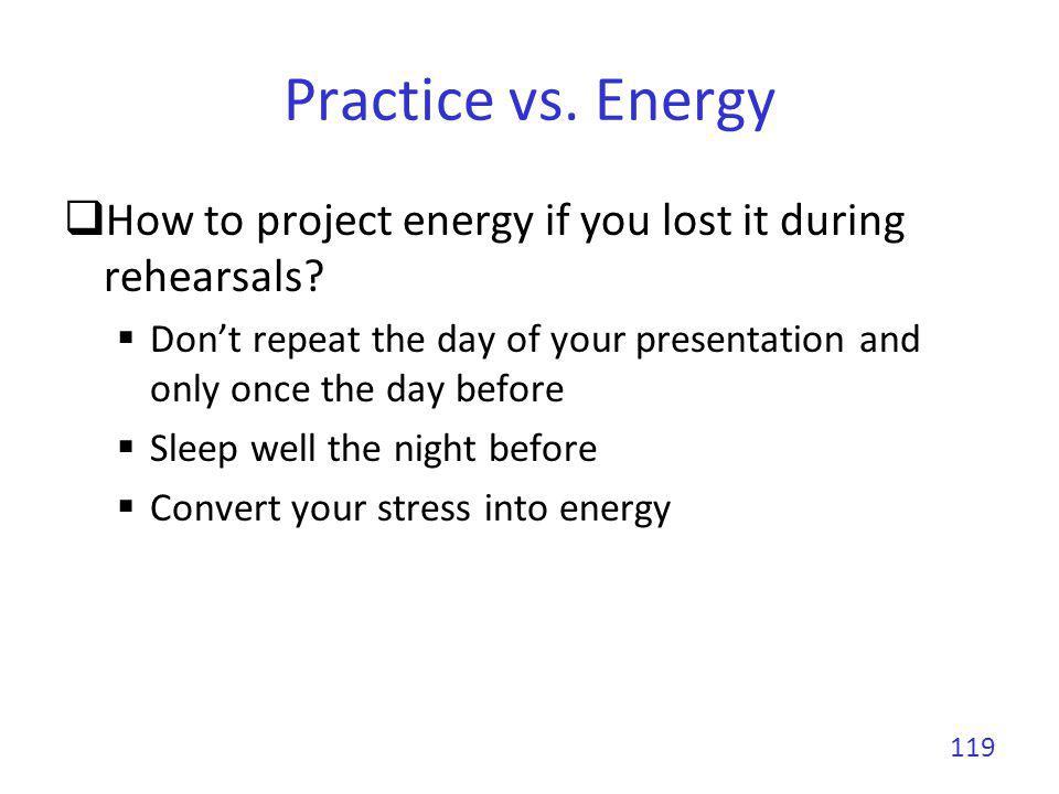 Practice vs.