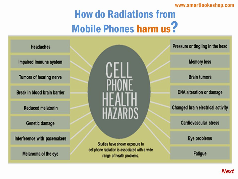 How do Radiations from Mobile Phones harm us ? Next www.smartlookeshop.com