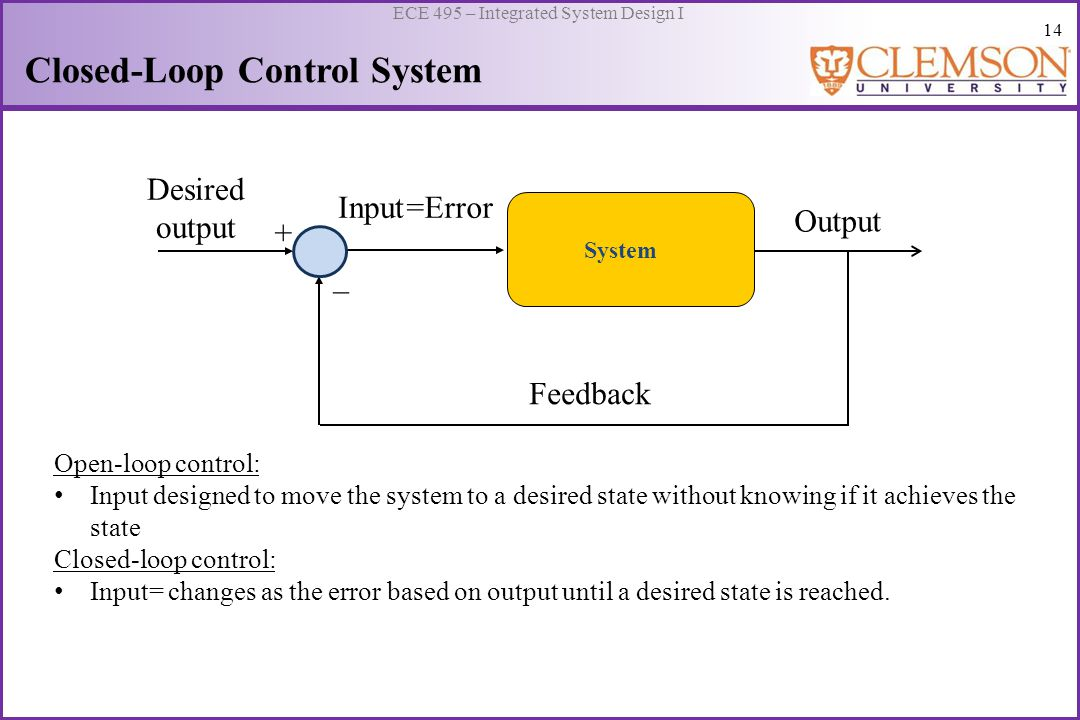 15 ECE 495 – Integrated System Design I Real-time Closed-loop Control What is Real-time Control .