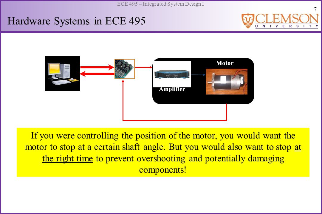 8 ECE 495 – Integrated System Design I Which system would you use in ECE 495.