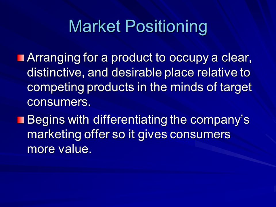 Marketing Mix The set of controllable, tactical marketing tools that the firm blends to produce the response it wants in the target market.