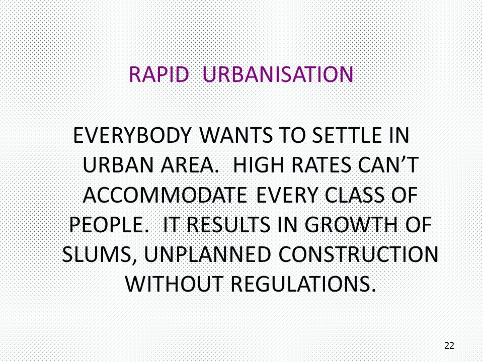 23 POPULATION GROWTH EFFECT ON THE PEOPLE LIVING IN CROWDED AREAS.