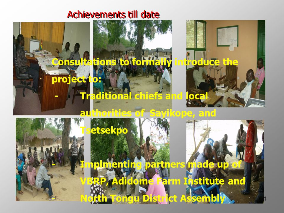 12 -Project Implementation Team formed and oriented on roles and responsibilities.