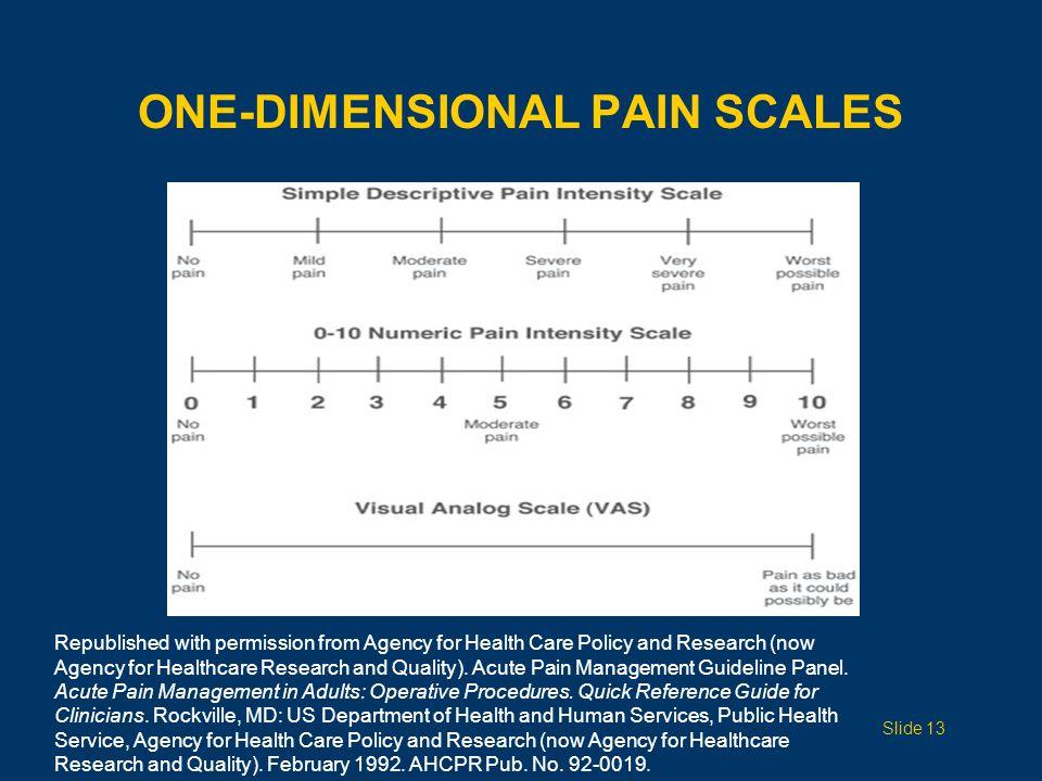 FACES PAIN SCALE Slide 14 Hicks CL, von Baeyer CL, Spafford P, et al.