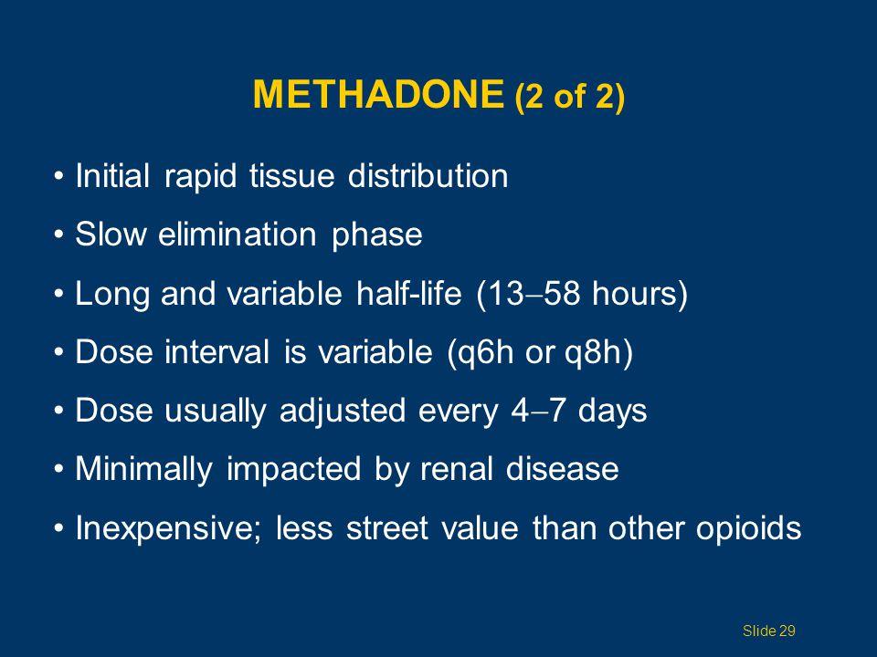 DRUGS TO AVOID IN THE ELDERLY Meperidine Demerol Mixed agonist-antagonists eg, Pentazocine (Talwin) Propoxyphene Darvon, Darvocet Slide 30