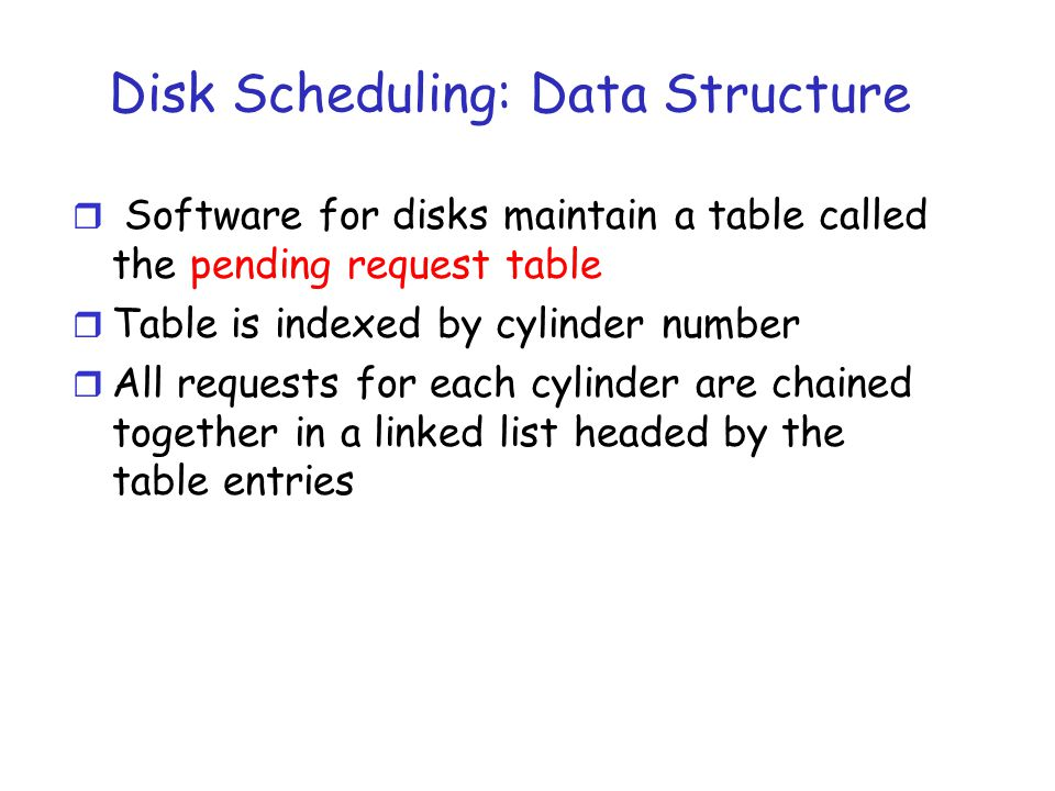 First-Come, First-Served (FCFS) order r Method m First come first serve r Pros m Fairness among requests m In the order applications expect r Cons m Arrival may be on random spots on the disk (long seeks) m Wild swings can happen 0199 98, 183, 37, 122, 14, 124, 65, 67 53
