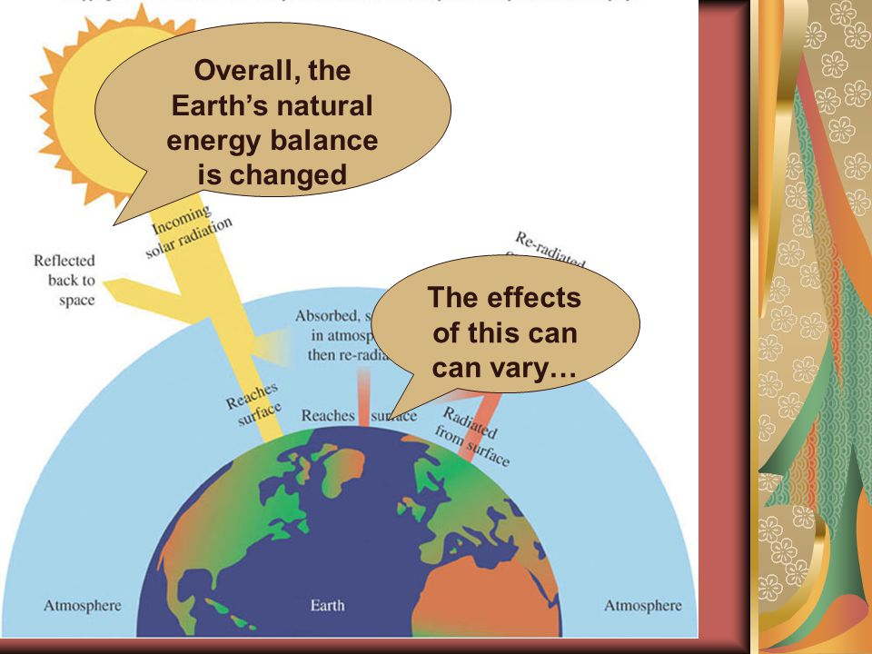 What are the effects of increased energy in the atmosphere?