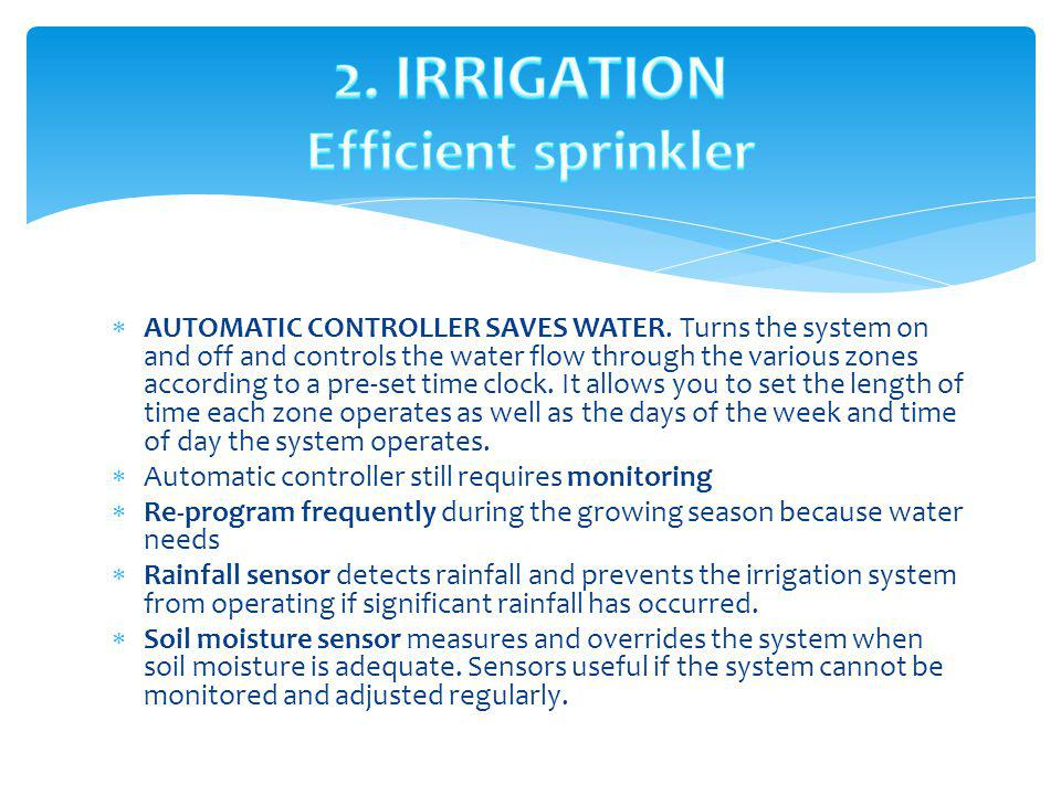 ADJUST SPRINKLER HEADS AS NEEDED.