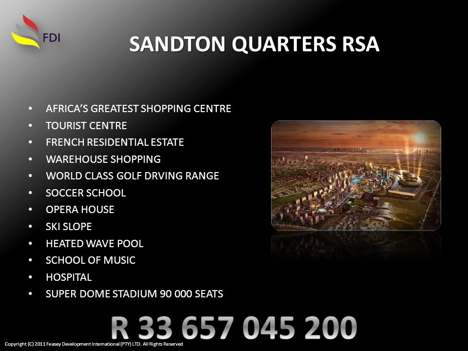 CONTOUR PLAN SANTON QUARTERS RSA CONTOUR PLAN Copyright (C) 2011 Feasey Development International (PTY) LTD.
