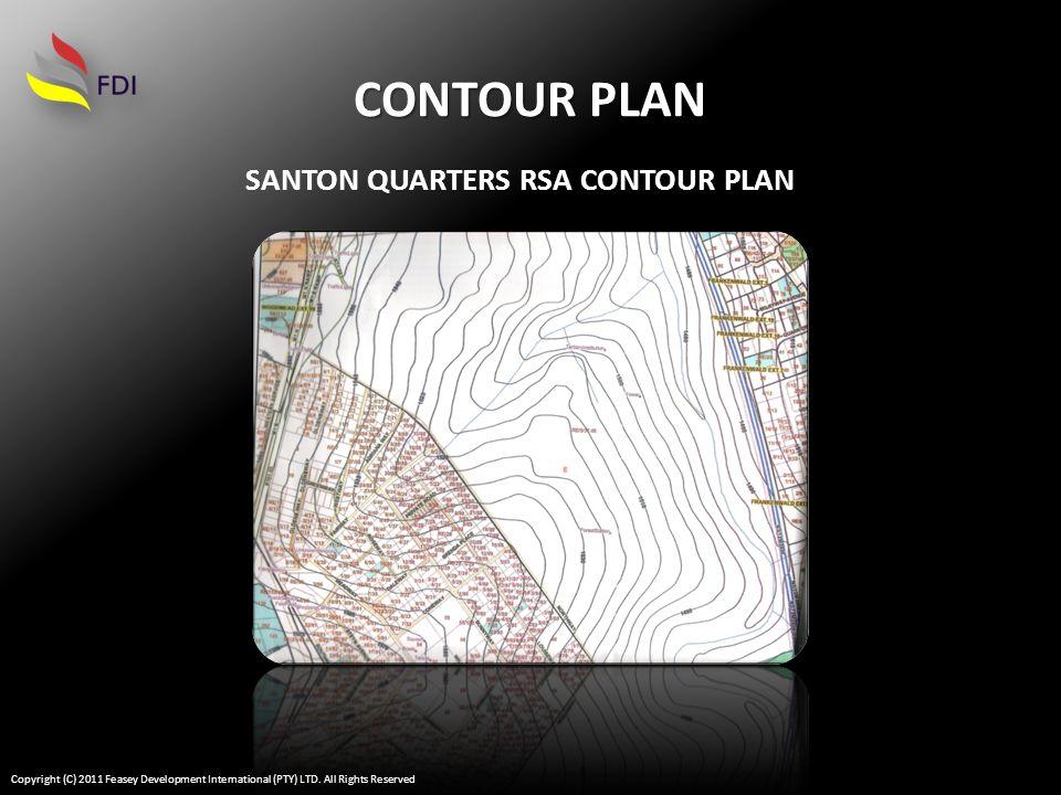 AERIAL PLAN SANTON QUARTERS RSA AERIAL PLAN 285 HECTARS Copyright (C) 2011 Feasey Development International (PTY) LTD.