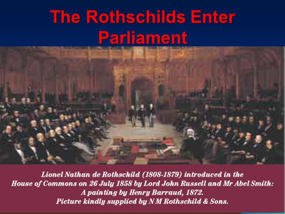 Some Of Many Rothschild Agents 111 The Right Honourable Benjamin Disraeli, 1st Earl of Beaconsfield, KG PC Disraeli, (21 December 1804 – 19 April 1881) on the death of Prince Albert wormed his way into the confidence of Queen Victoria and persuaded her to allow Jews into Parliament