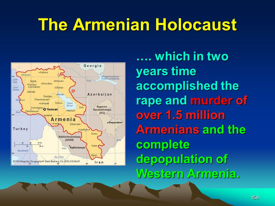 The Armenian Holocaust 160 Certainly as volatile as Baku, Palestine and the surrounding Moslem areas were susceptible to the same problems of ethnic disruption.