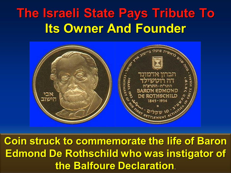 174 The Israeli State Pays Tribute To Its Owner And Founder 500 Sheckle Bank Note issued to commemorate the life of Baron Edmond De Rothschild.