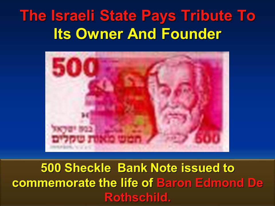 175 The Israeli State Pays Tribute To Its Owner And Founder 300 Sheckle postage stamp issued to commemorate the life of Baron Edmond De Rothschild.