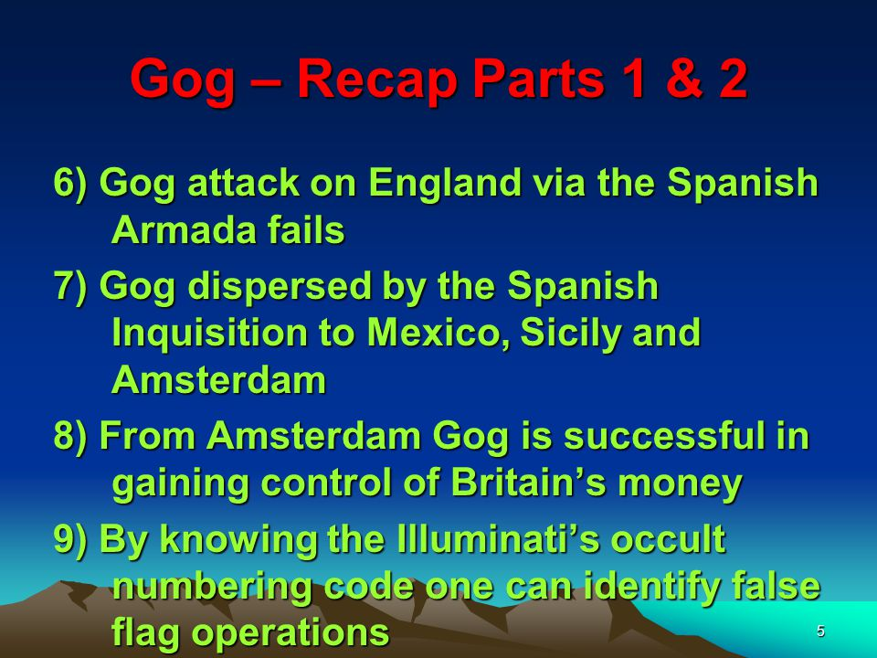 6 Gog of The Land of Magog And Thou (Attila/Genghis Khan) Shalt Come From Thy Place Out Of The North Parts, Thou And Many People With Thee All Of Them Riding Upon Horses, A Great Company, And A Mighty Army The Story of Analysis of Ezekiel 38 : 15 First half of verse