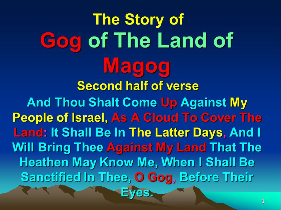9 Gog Deceives The Nations We saw in part 2, that Jacobs Trouble was signalled on the banner of Clovis (King of the Franks) by the 3 frogs (evil spirits) of Rev 16:13) and shall now look in more detail at of one of these –