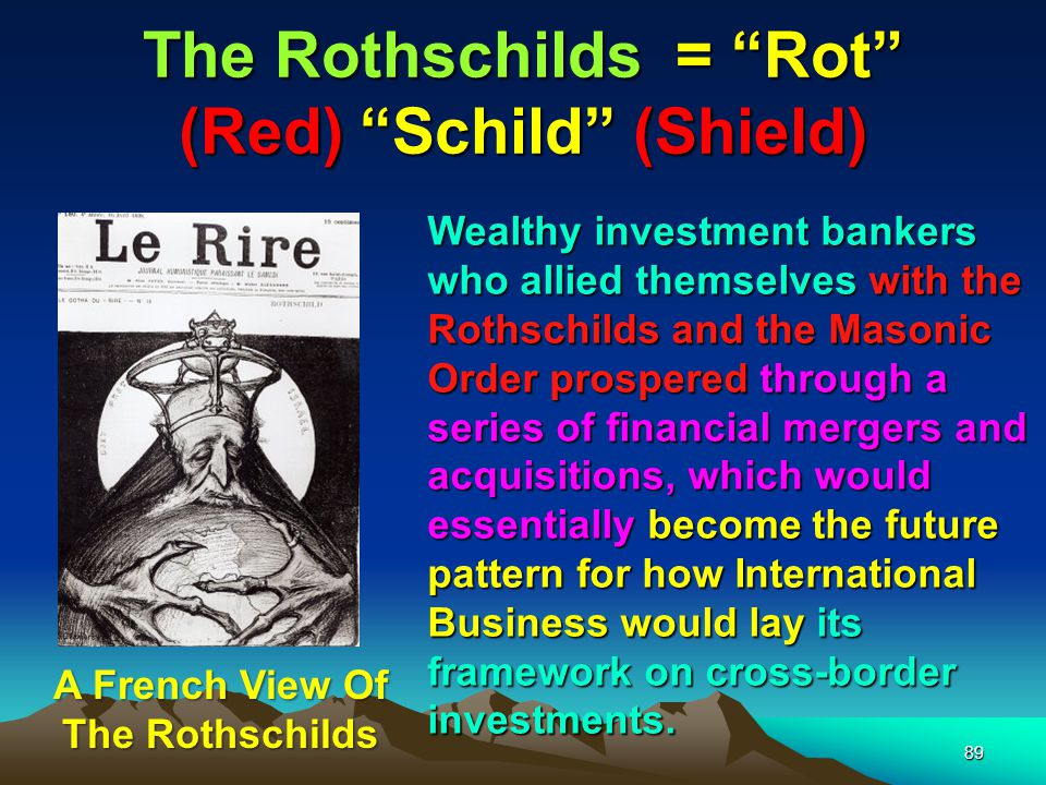 Rothschilds & South Africa 90 The Rothschilds supported Cecil Rhodes to form De Beers.