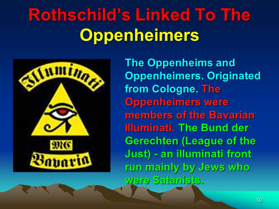 93 Rothschilds Linked To The Oppenheimers J.