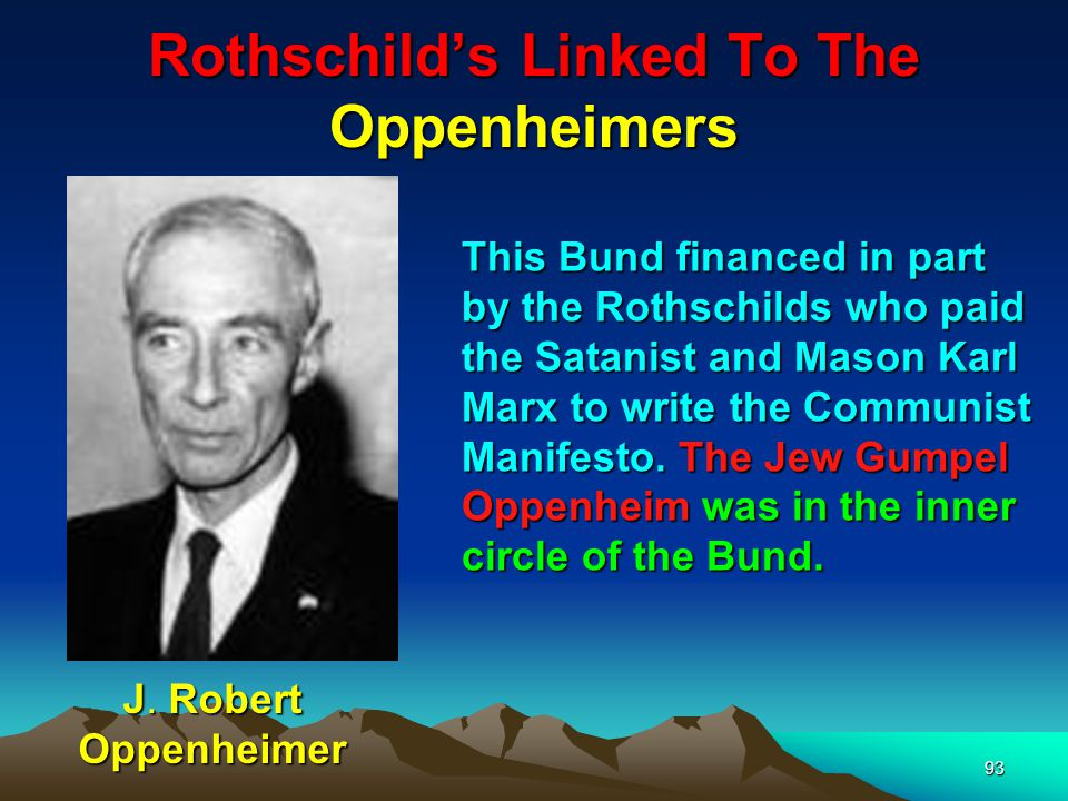 Rothschilds Linked To The Oppenheimers 94 His relative Heinrich Oppenheim masterminded the communist revolution of 1848 in Germany.