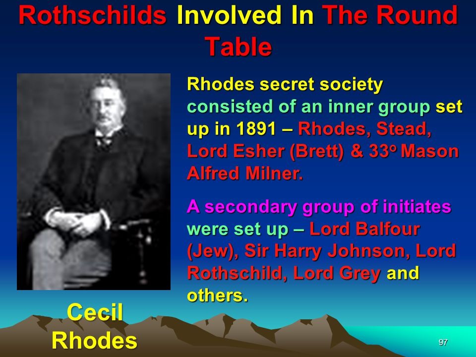Rothschilds Involved In The Round Table 98 Lord Rothschild was not initially in the inner group but was represented by his son-in-law Lord Rosebury.