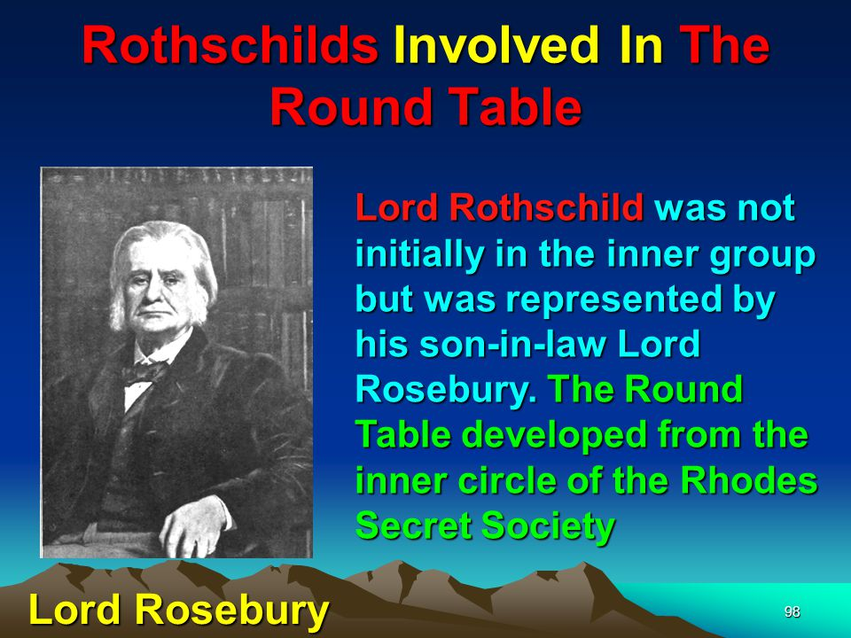 99 Rothschilds Involved In The Round Table Today there is a Round- Table branch in most towns.