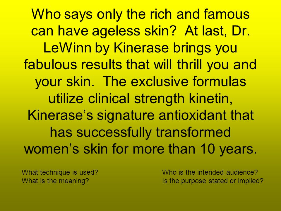 Who says only the rich and famous can have ageless skin.