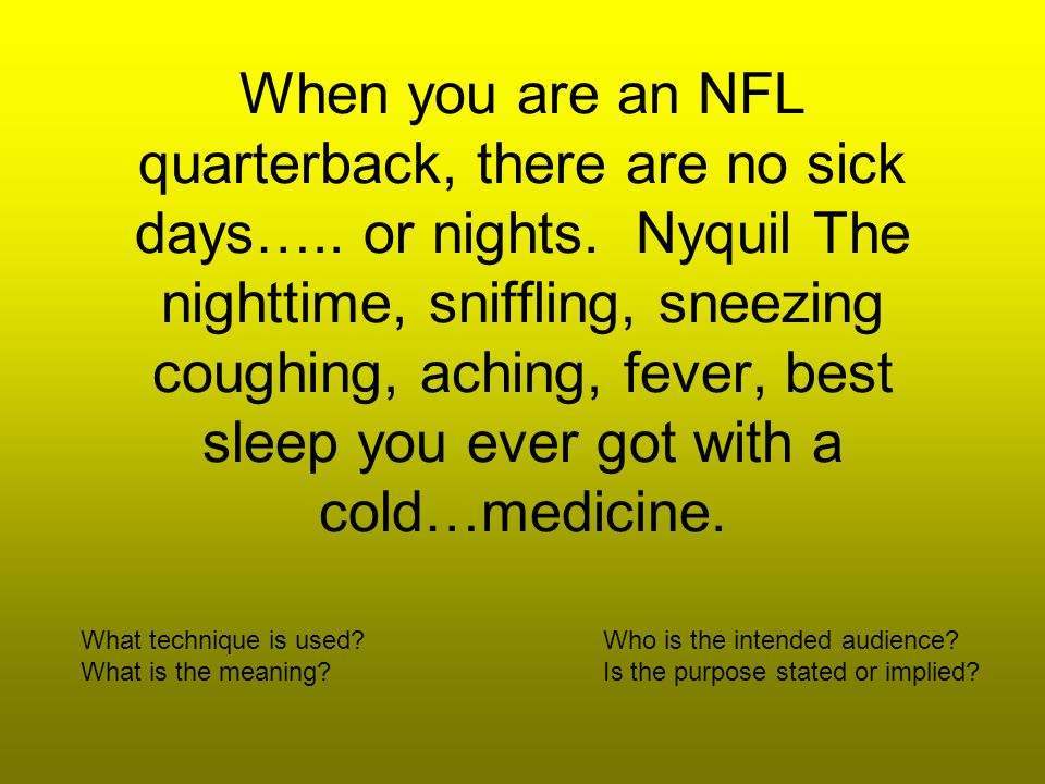 When you are an NFL quarterback, there are no sick days…..